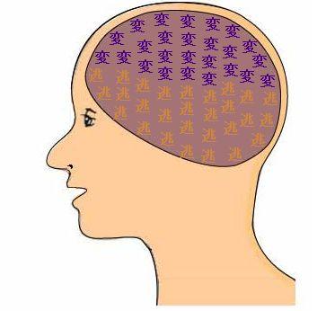 鏡音リンの頭の中の画像です。